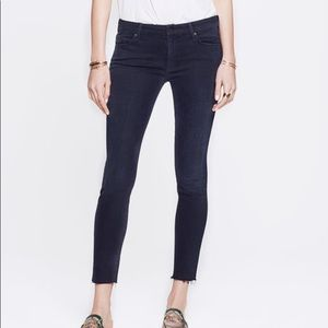 Mother high waisted looker ankle fray denim